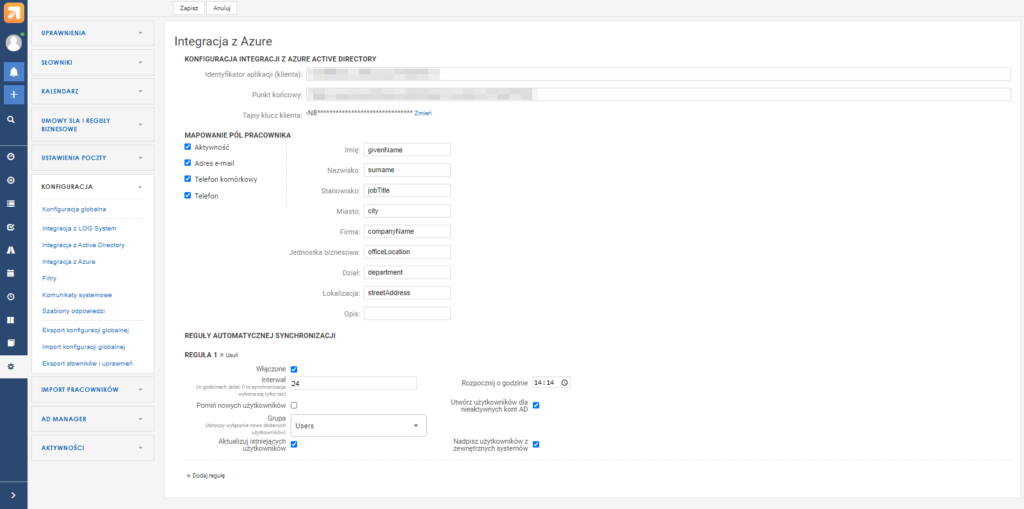 LOG 6.9 integracja z Azure Active Directory