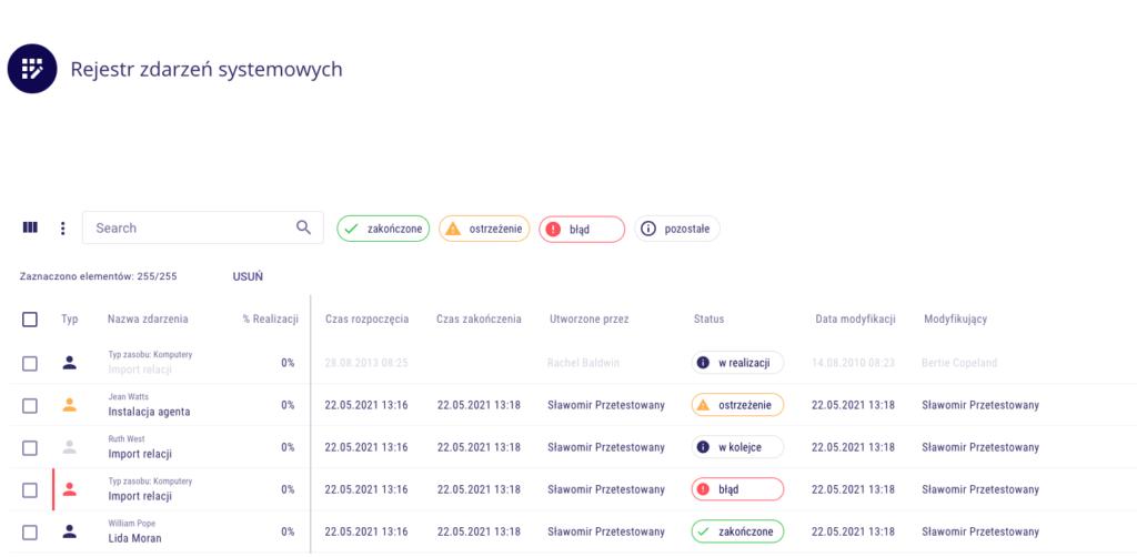 LOG Plus 2.1: Rejestr zdarzeń systemowych